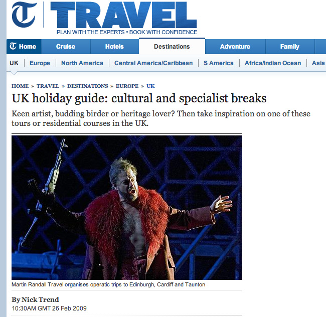 The Telegraph 26 Feb 2009: