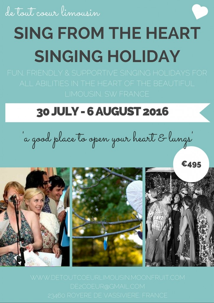 sing from the heart singing holidays SW France